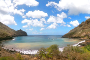 Zátoka Vaituha na ostrově Eiao